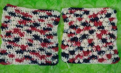 22Sep17 Pebbles Stitch Washcloth by AsheEltonParker