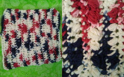 22Sep17 - Pebble Stitch Variation Washcloth