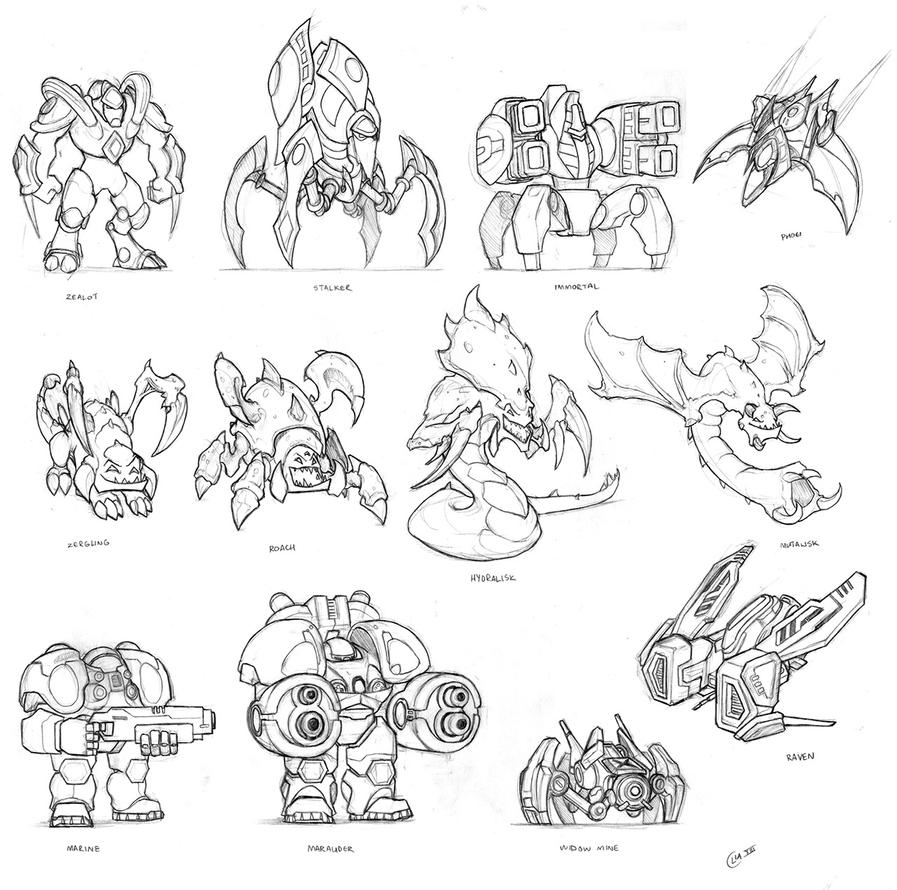 Coloring pages starcraft coloring pages for Starcraft coloring pages