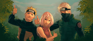 Thumbs Up From Team Kakashi