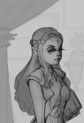 WIP Princess Zelda by lagaghost