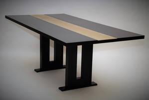 Black Maple Dining Table by belakwood