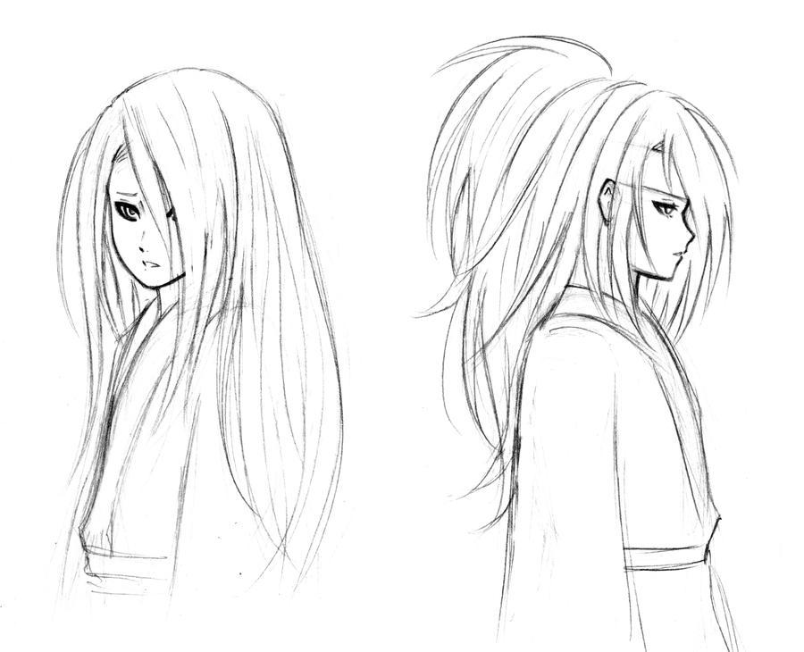 Deidara: Sketches 02 by FeatherHarp