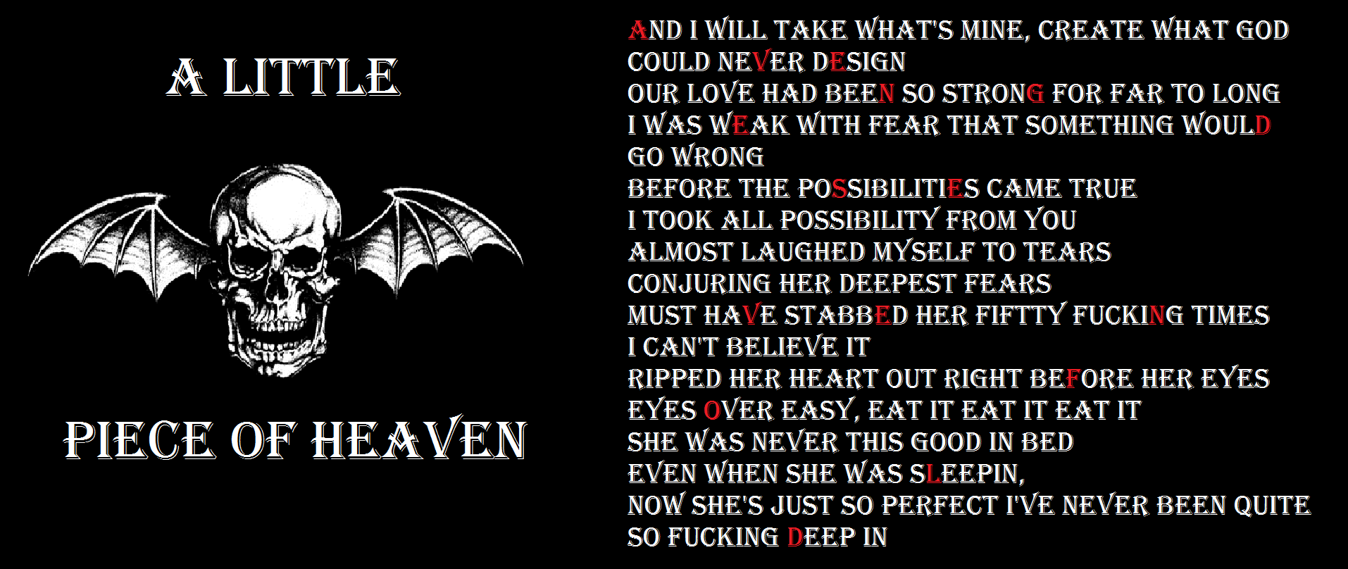Avenged Sevenfold (A Little Piece of Heaven) by a7x-kjh on ...