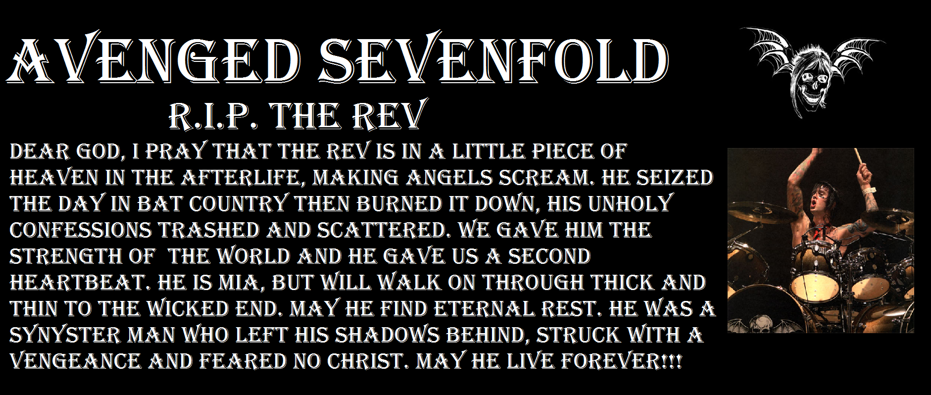 R.I.P. The REV by a7x-kjh on DeviantArt