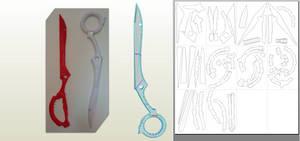 Harime Nui's Scissors blade Papercraft