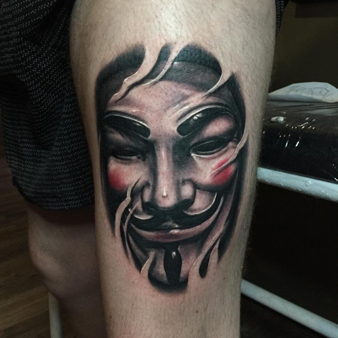 V For Vendetta Tattoo Mask Tattoo Guy Fawkes By Jacques