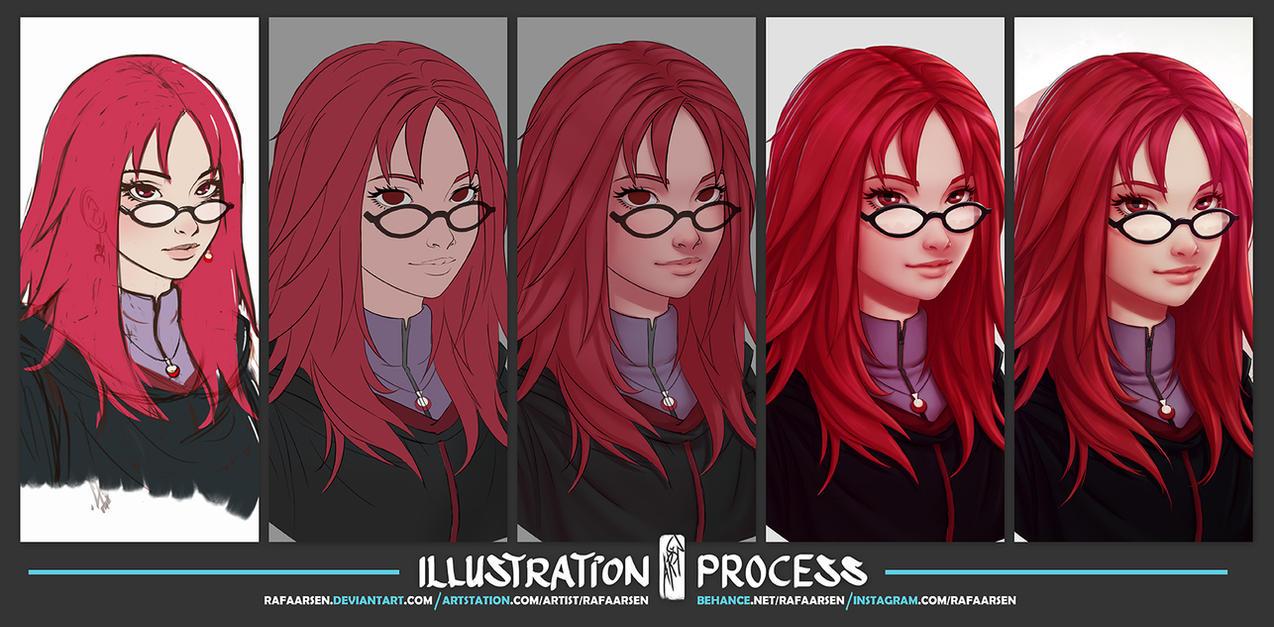 Karin Uzumaki process by rafaarsen