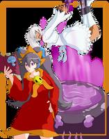 Spooky-Seraphim Halloween: Estelle and Yukia Brew! by Shaded-Seraphim