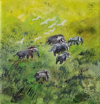 Elefants in the Gras