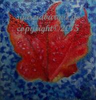 Blatt Rot auf Blau by sgarciaburgos