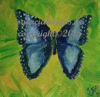 BlauerSchmetterling Blue Butterfly by sgarciaburgos
