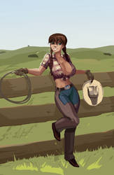 The Lovely Cowgirl By Morganagod. by furryjibe