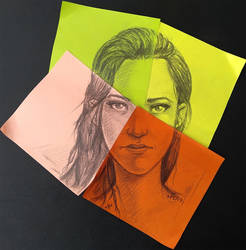 Random Face on Post-it notes