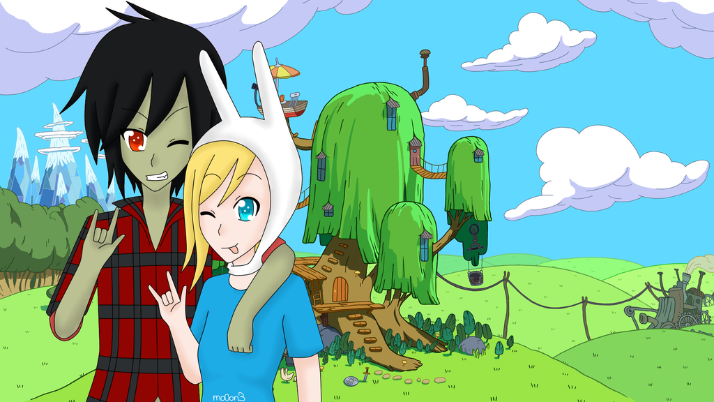 Fionna And Marshall Lee Wallpaper By Mo0on3 On DeviantArt