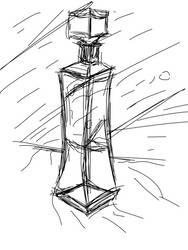 Daily Sketch - 12-02-15 - Glass Refraction by Nekroskoma