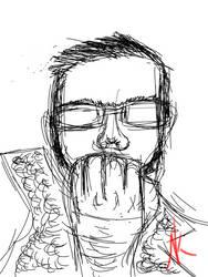 Daily Sketch - 12-28-15 - Self Portrait by Nekroskoma