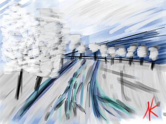 Daily Sketch - 01-02-16 - Winter Landscape by Nekroskoma