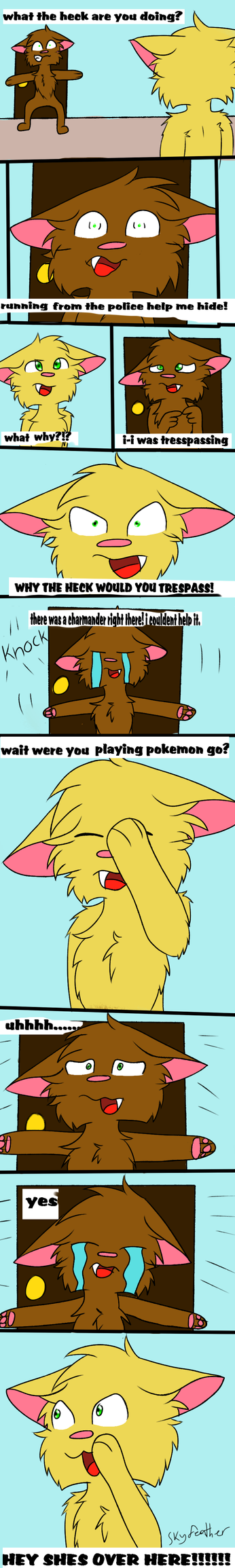 adventures of clover pg 1 'Pokemon go' by skyfeather0066