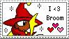 Broom Love Stamp by ShadOBabe