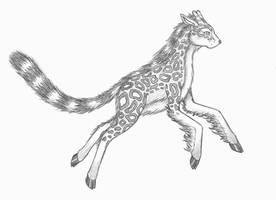 Giraffe+Snow Leopard Hybrid by ShadOBabe