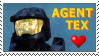 Agent Tex - Red vs. Blue Stamp by ShadOBabe