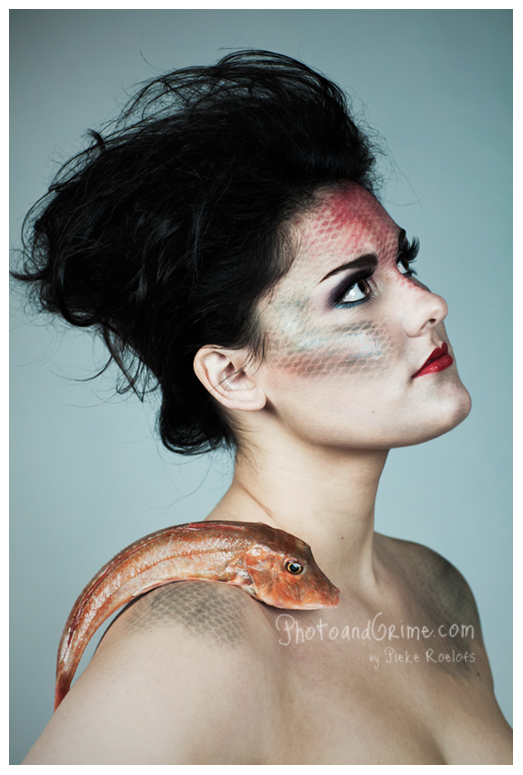 fish scale makeup