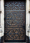 decorated door by imp13