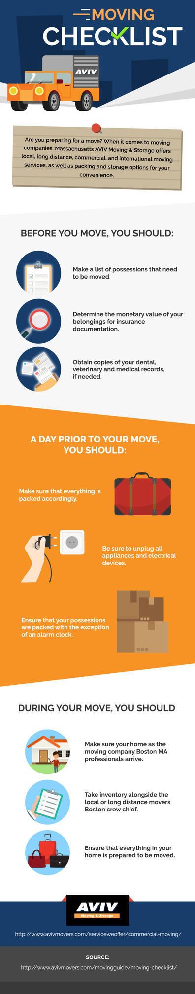 Infographics: Relocation Checklist By Aviv Moving By Avivmovers