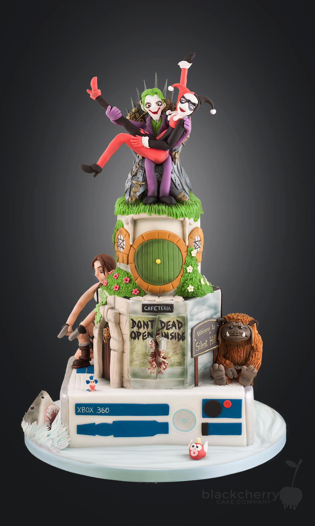 Pop Culture Wedding Cake! by BlackCherryCake