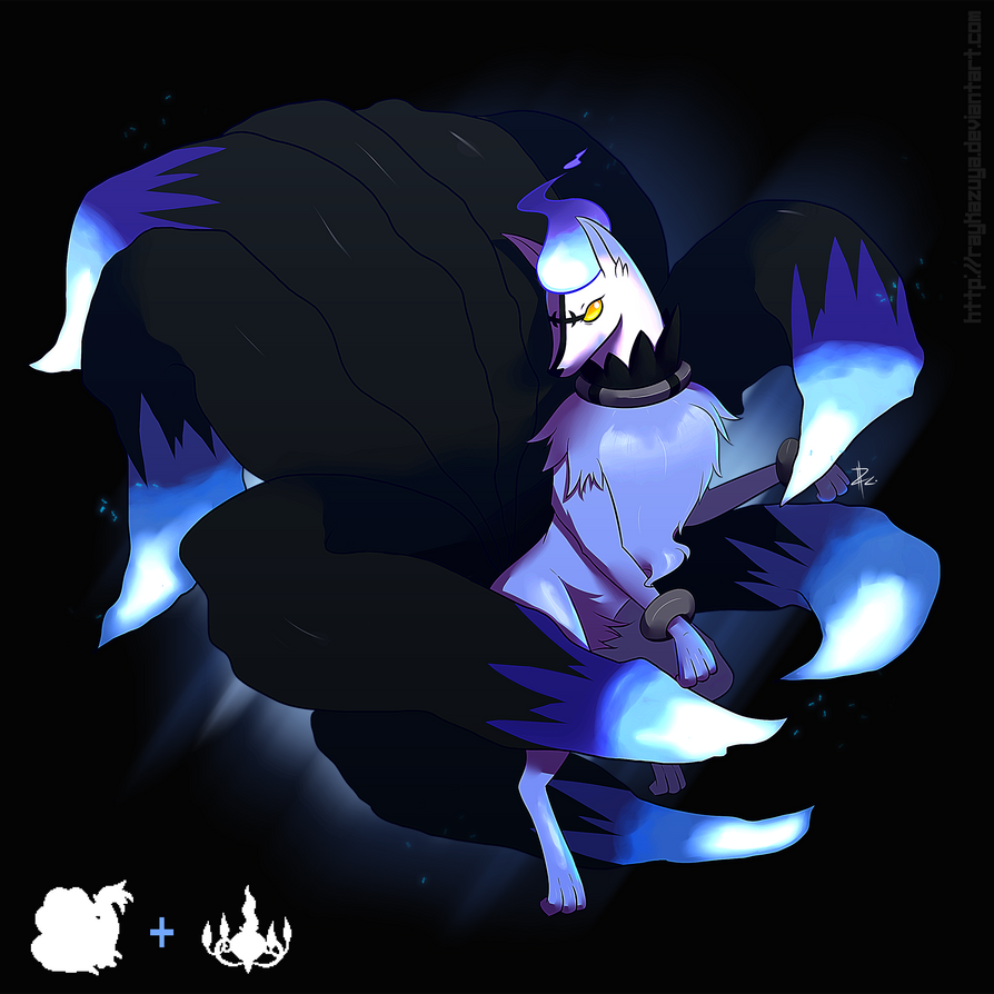 Pokemon Fusion ( Nineales + Chandelure ) by Raykazuya