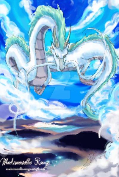 Haku dragon - Chihiro by MademoiselleRougeArt on DeviantArt