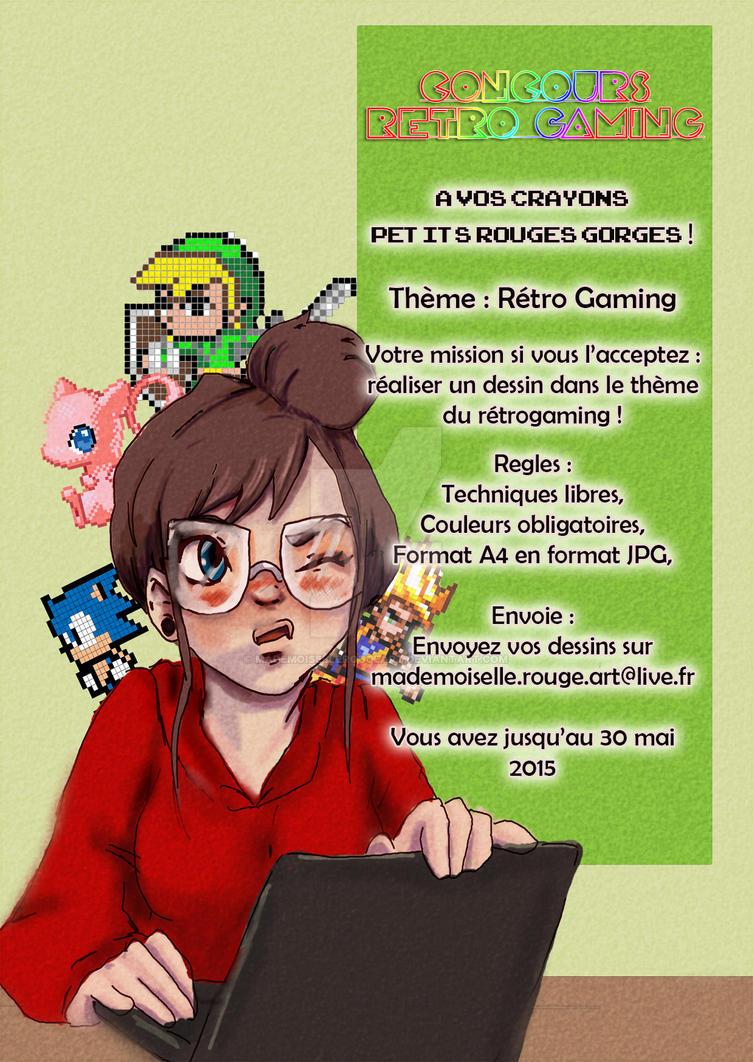Retro Gaming - Geekette by MademoiselleRougeArt