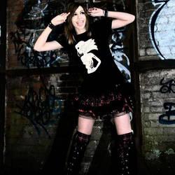 Tee shirt Gothic fashion visual kei grunge design