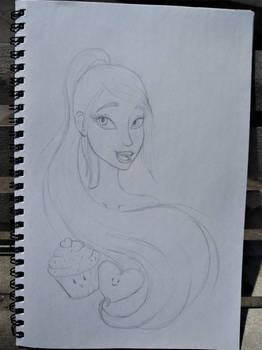 Samira bust sketch