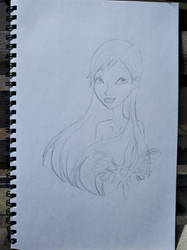 Marina bust sketch