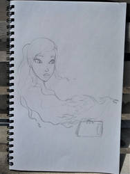 Kay bust sketch