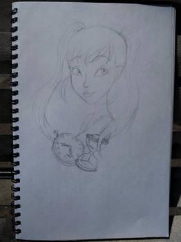 Hina bust sketch