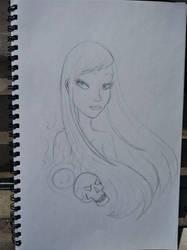 Akira bust sketch