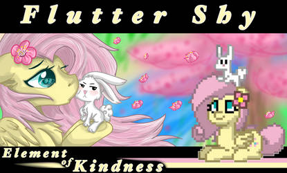 FlutterShy and Angel  by FrostyShield951