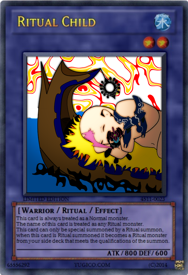 Yu-gi-oh! Card Ritual Child by Cursed-Mangaka