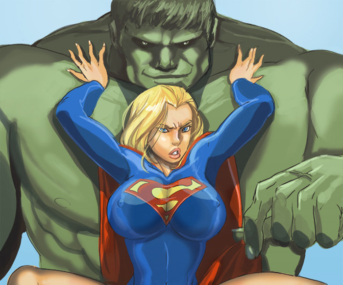 supergirl and hulk by Haseo1970 on DeviantArt