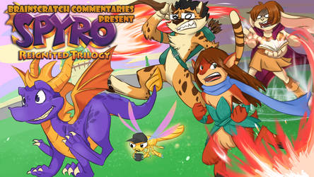 Commission: BSC Spyro Reignited Thumbnail by treetune