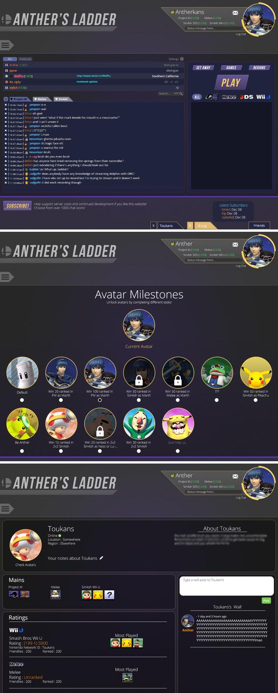 web design mock up of smash ladder by toukansdesign on deviantart