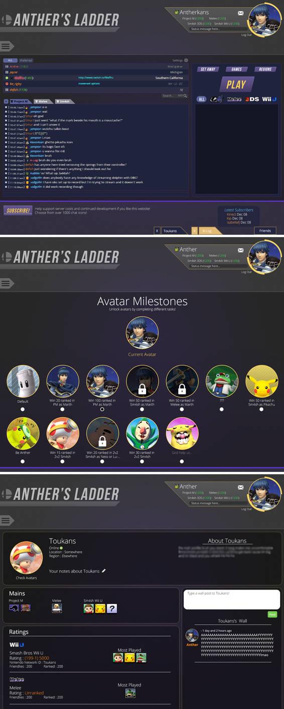 Anther Ladder web design : mock up of smash laddertoukansdesign on