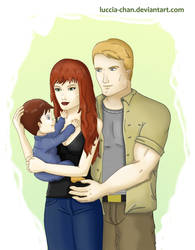 Natasha, Steve and James Rogers by Luccia-chan