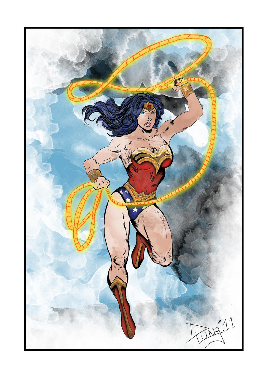 Wonder Woman Sketch by DaveLungArt