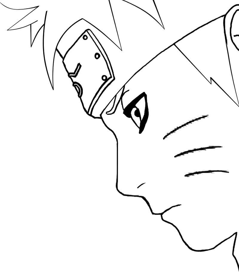 Lineart Naruto : Naruto lineart by bargiegaara on deviantart