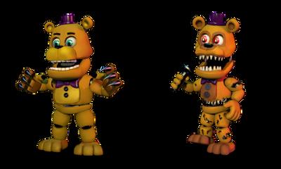 Fredbear and Nightmare Fredbear Swap by KurosPL