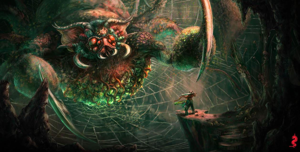 Warrior vs Spider by ltramaral